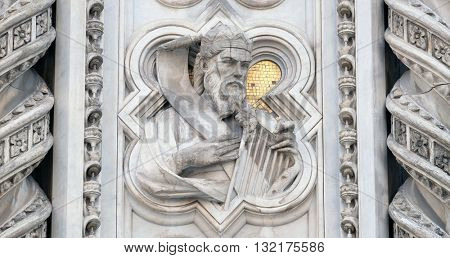 FLORENCE, ITALY - JUNE 05: King David, Portal of Cattedrale di Santa Maria del Fiore (Cathedral of Saint Mary of the Flower), Florence, Italy on June 05, 2015