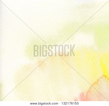 faded high key yellow tones watercolor abstract background