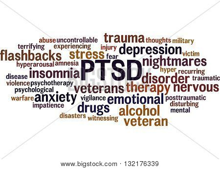 Posttraumatic Stress Disorder - Ptsd, Word Cloud Concept 6