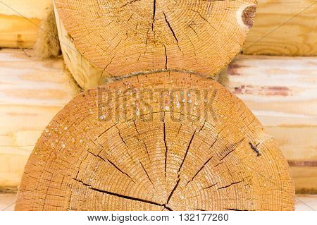 The resin is isolated from wooden logs