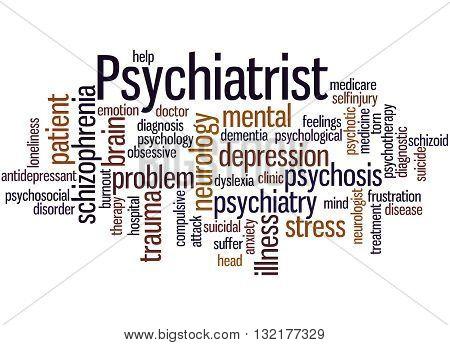 Psychiatrist, Word Cloud Concept 2