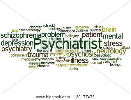 Psychiatrist, Word Cloud Concept 6