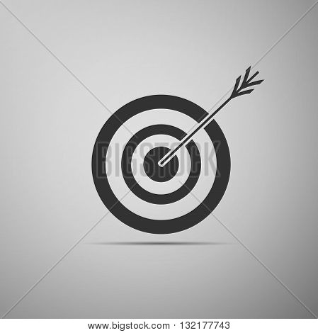 Icon target with dart, isolated. Vector Illustration.