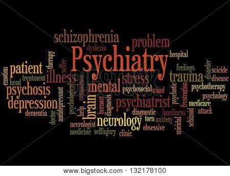 Psychiatry, Word Cloud Concept 8