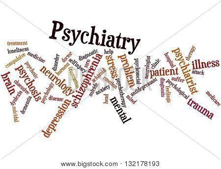Psychiatry, Word Cloud Concept 9
