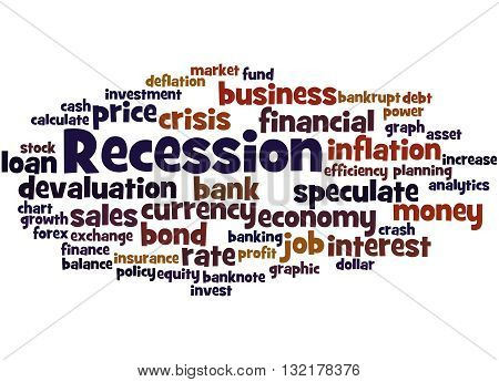 Recession, Word Cloud Concept 3