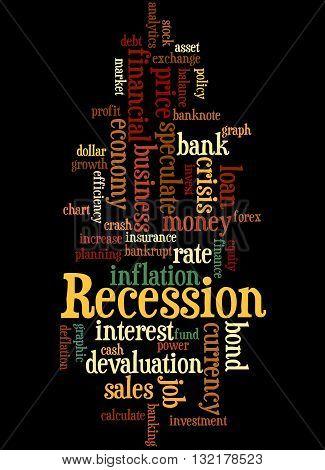 Recession, Word Cloud Concept 6