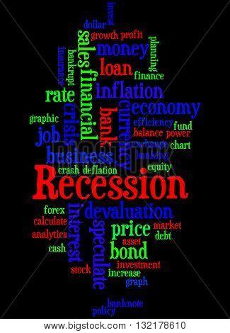 Recession, Word Cloud Concept 7