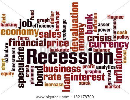 Recession, Word Cloud Concept 8