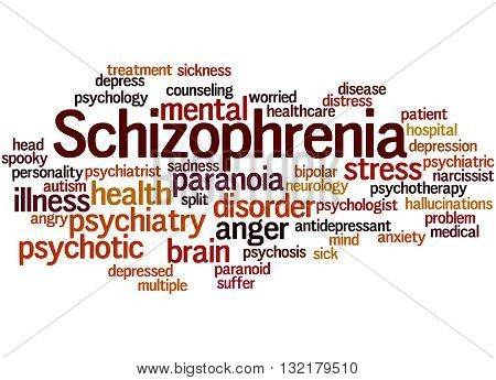 Schizophrenia, Word Cloud Concept