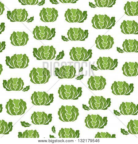 Seamless pattern with Lettuce. Seamless pattern with Eggplant