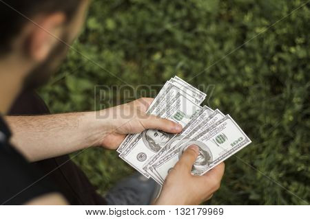 There are a lot of money in the hands