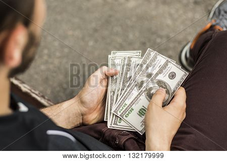There are lot of money in the hands