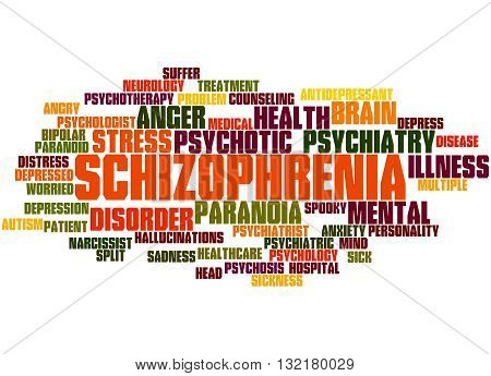 Schizophrenia, Word Cloud Concept 9