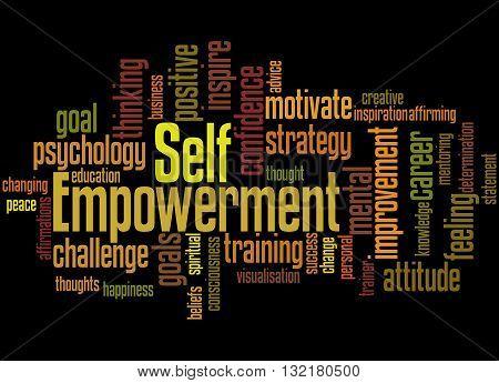 Self Empowerment, Word Cloud Concept 3