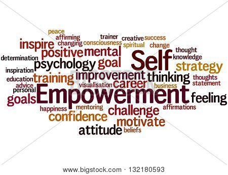 Self Empowerment, Word Cloud Concept 5