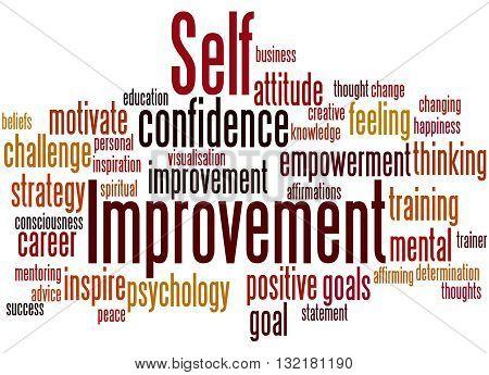 Self Improvement, Word Cloud Concept 9