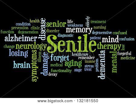 Senile, Word Cloud Concept 9