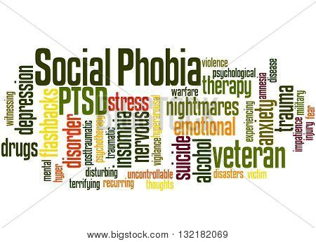 Social Phobia And Ptsd, Word Cloud Concept