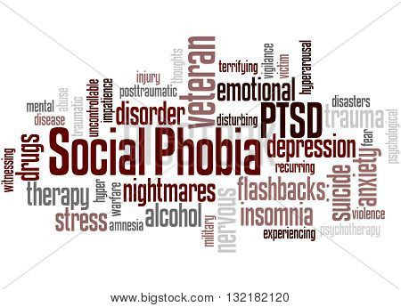 Social Phobia And Ptsd, Word Cloud Concept 3