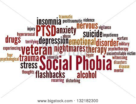 Social Phobia And Ptsd, Word Cloud Concept 8