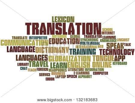 Translation, Word Cloud Concept 2