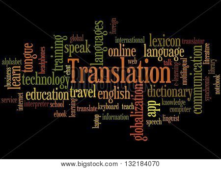 Translation, Word Cloud Concept 7