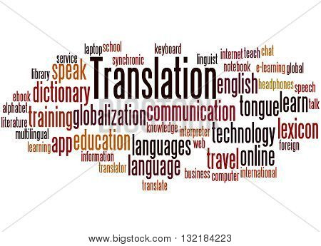 Translation, Word Cloud Concept 9
