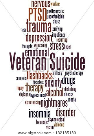 Veteran Suicide, Word Cloud Concept 7