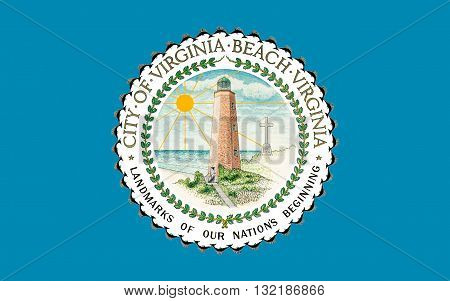 Flag of Virginia Beach is an independent city located in the U.S. state of Virginia