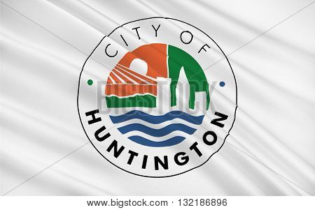 Flag of Huntington is a city in Cabell and Wayne counties in the U.S. state of West Virginia located at the confluence of the Guyandotte River and the Ohio River