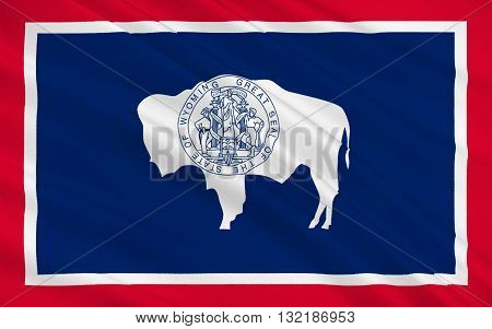 Flag of Wyoming is a state in the mountain region of the Western United States