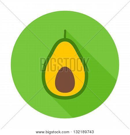 Avocado Flat Circle Icon