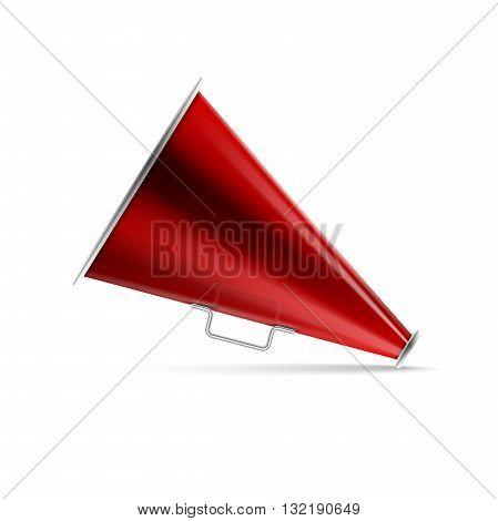 Icon megaphone, speaker on white background. Vector Illustration.