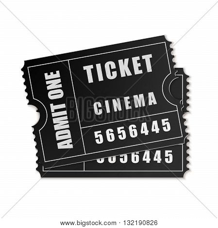 Vector Admit One ticket icon on white background. Vector Illustration. EPS10