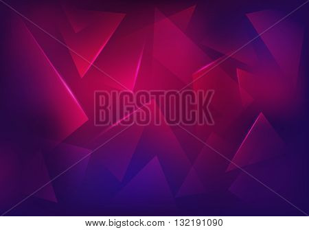 Vector Broken Glass Purple Background. Explosion Destruction Cracked Surface Illustration. Abstract 3d Bg for Night Party Posters Banners or Advertisements.