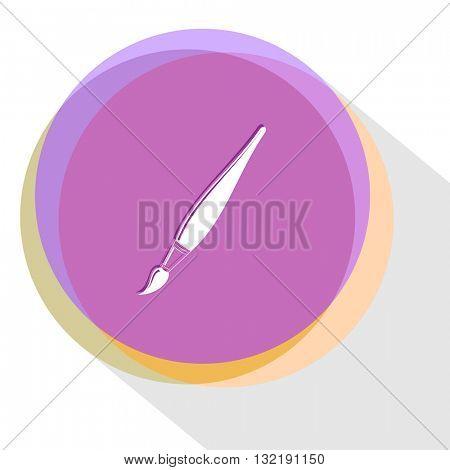 brush. Internet template. Vector icon.
