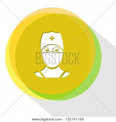 doctor. Internet template. Vector icon.