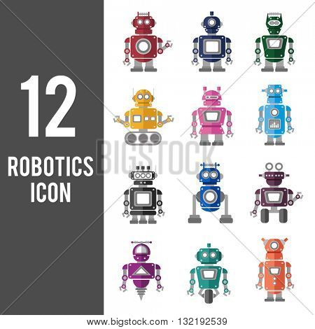 Robotics Technology System Icon Vector Concept
