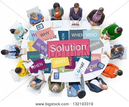 Solution Solving Problem Success Theory Concept