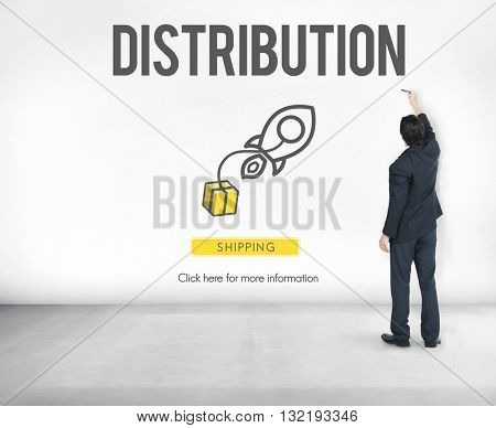 Distribution Logistic Cargo Freight Manufacturing Concept