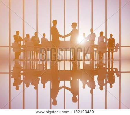 Business People Meeting Corporate Professional Occupation Concept