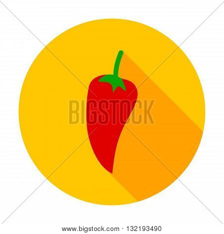 Pepper Flat Circle Icon