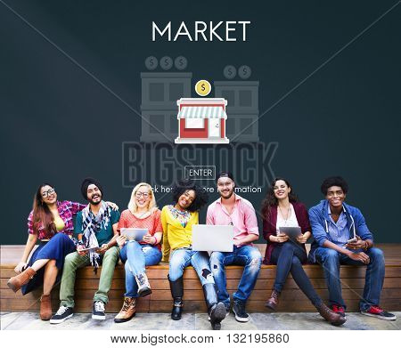 Market Launch Start up New Business Concept