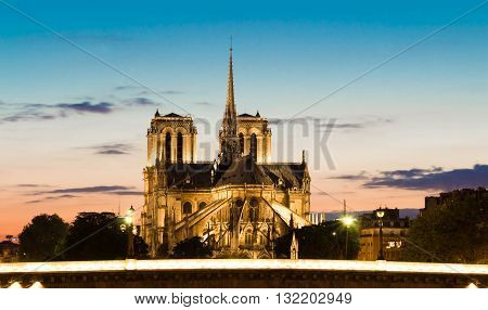 The Notre Dame cathedral is one of the most famous monuments in French capital Paris.
