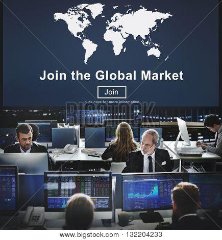 Global Market Commerce Commercial Consumer Concept
