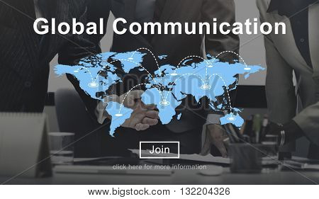 Global Communication Connection Networking Website Concept