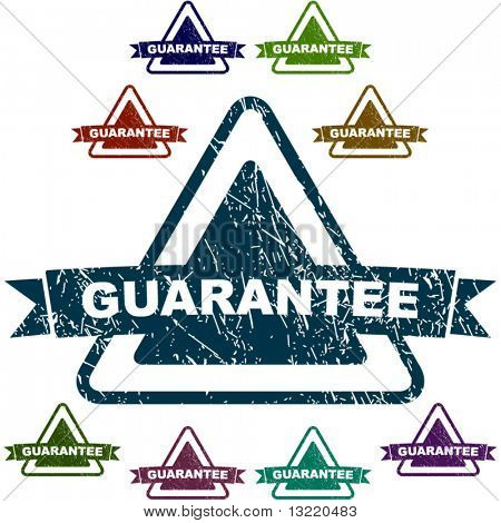 Guarantee seals. Vector set.
