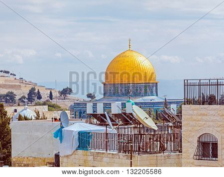 Dome Of The Rockat Day, Jerusalem, Israel