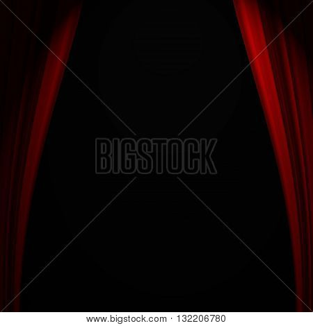 Beautiful red curtain background with abstract folds